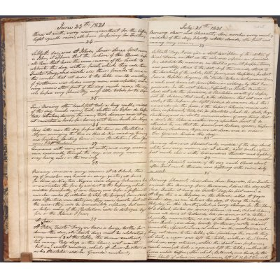 June 23-July 25, 1821